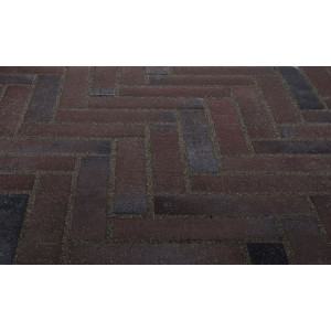Тротуарная клинкерная плитка Stroeher 336 metallic schwarz, 240*52*18 мм