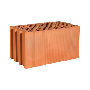 Крупноформатный керамический блок 25 Гжель 11,2 НФ, 250x398x219 мм