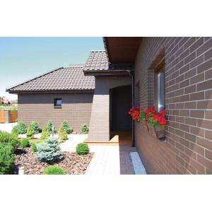 Плитка для вентилируемого фасада King Klinker 03 Natural brown без затирки, 287*84*22 мм