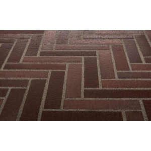Тротуарная клинкерная плитка Stroeher 212 braun, 240*52*18 мм