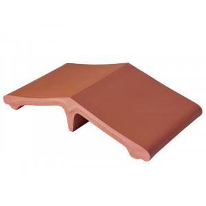 Добор для колпака на забор King Klinker 01 Рубиновый красный, 445*250*90 мм