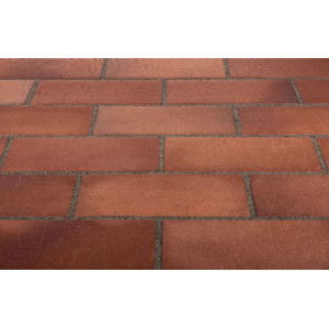 Тротуарная клинкерная плитка Stroeher 316 patrizierrot ofenbunt, 240*115*18 мм
