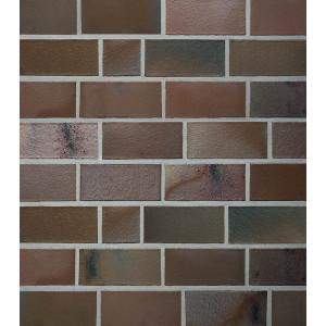 Клинкерный кирпич Roben ACCUM 2DF schmelz blau-braun, 2DF 240x115x113 мм