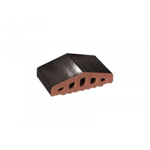 Профильный кирпич King Klinker Ониксовый черный (17) Onyx black, 310/250*100*78 мм
