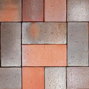 Клинкерная брусчатка Roben Altona blau-rot, ungefast, 240*118*52 мм