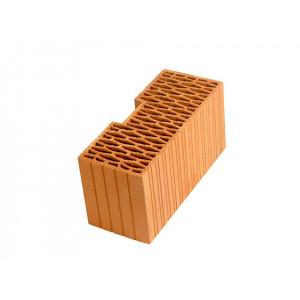 Угловой керамический блок Porotherm PTH 44R, М100, 440*185*219 мм