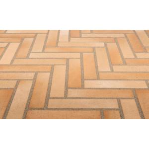 Тротуарная клинкерная плитка Stroeher 123 beige-bunt, 240*52*18 мм