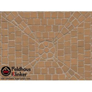 Клинкерная брусчатка мозаика Feldhaus Klinker M203DF areno trigo, DF (мозаика) 240*118*52 мм