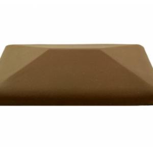 Керамическая крышка на столб цвет коричневый 380*380 мм