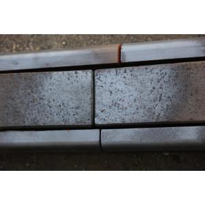 Клинкерный бордюр темно-коричневый 305*130*37 мм