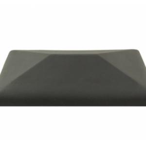 Керамическая крышка на столб цвет графит 380*380 мм
