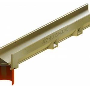 Водоотвод ACO арт 38501 Канал ACO SELF Euroline без решетки и встроенным отводным патрубком DN 100 (ДхШхВ) 100х11
