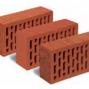 Керамический пустотелый кирпич темно-красный гладкий 250*120*65 мм