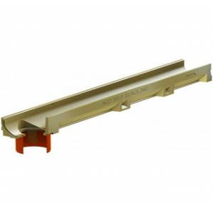 Водоотвод ACO арт 810010 (Канал ACO SELF Euroline Euromini без решетки и встроенным отводным патрубком DN 100 (ДхШхВ) 100х11