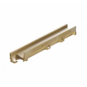Канал ACO SELF Euroline из полимербетона с отформованным отверстием под выпуск DN 100 без решетки (ДхШхВ) 100х11