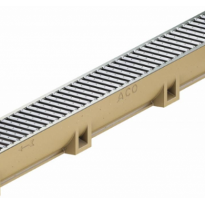 Канал АСО SELF Euroline из полимербетона в сборе с оцинкованной решеткой (ДхШхВ) 50х11