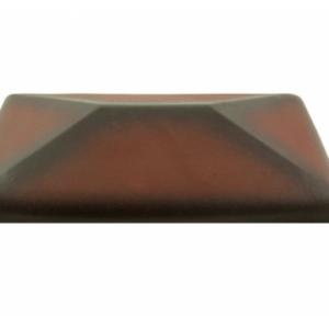Керамическая крышка на столб цвет ольха 300*300 мм