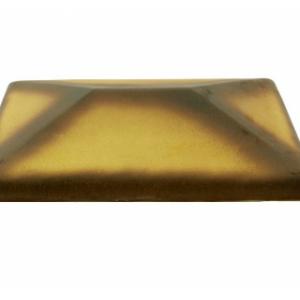 Керамическая крышка на столб цвет желтый тушевой 300*300 мм