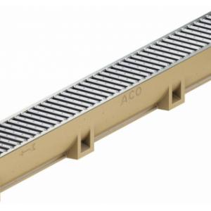 Канал АСО SELF Euroline Euromini из полимербетона в сборе с оцинкованной решеткой (ДхШхВ) 100х11