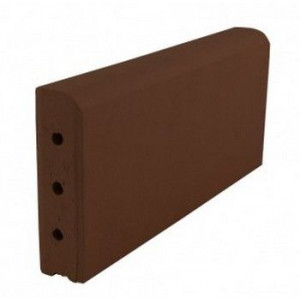 Клинкерный бордюр коричневый 305*130*37 мм
