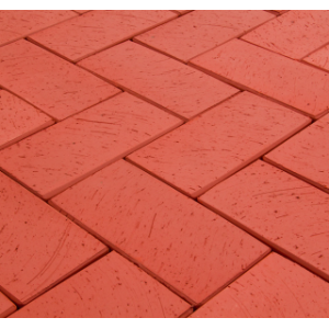 Клинкерная тротуарная брусчатка Lode Janka красная шероховатая 200*100*70 мм