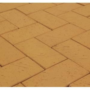 Клинкерная тротуарная брусчатка Lode Dzintra пестрый шероховатая 200*100*52 мм