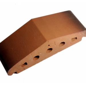Клинкерный профильный кирпич K25, цвет каштановый, размер 310*110*85мм