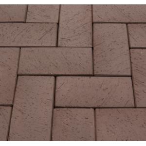 Клинкерная тротуарная брусчатка Lode Brunis коричневый шероховатая 200*100*52 мм
