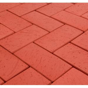 Клинкерная тротуарная брусчатка Lode Janka красная шероховатая 200*100*52 мм