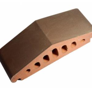 Клинкерный профильный кирпич K25, цвет коричневый, размер 310*110*85мм