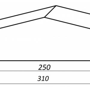 Клинкерный профильный кирпич K25P, цвет желтый тушевой, размер 310*65*85мм