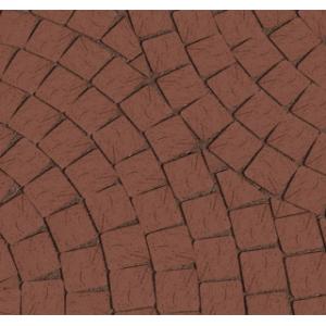 Клинкерная тротуарная брусчатка Lode Brunis коричневый шероховатая 60*60*52 мм