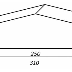 Клинкерный профильный кирпич K25P, цвет графит, размер 310*65*85мм