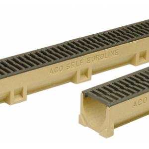 Канал АСО 38705 SELF Euroline из полимербетона с чугунной решеткой (ДхШхВ) 100х11