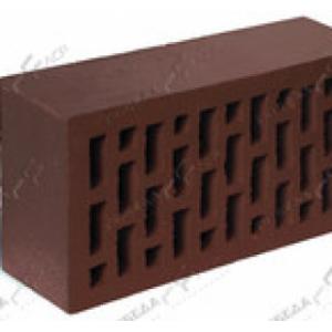 Керамический пустотелый кирпич темно-коричневый гладкий 250*120*65 мм