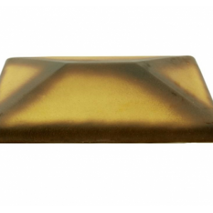 Керамическая крышка на столб цвет желтый тушевой 425*425 мм