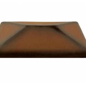 Керамическая крышка на столб цвет каштановый 380*380 мм