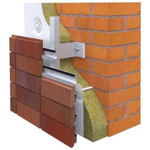 клинкерная плитка для систем навесных вентилируемых фасадов RONSON